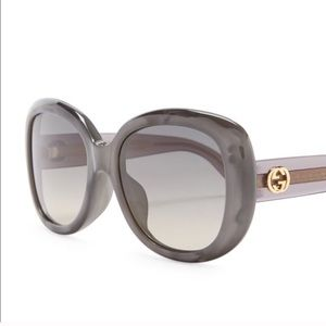 Gray Gucci sunglasses